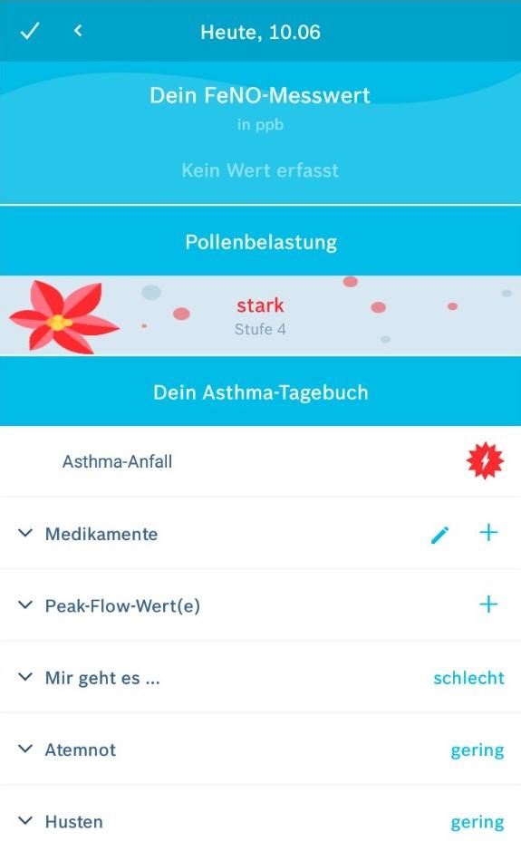 Übersicht über die Vivatmo App